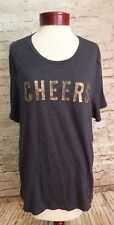 Old Navy Relaxed Cheers Gray Short Sleeved Tshirt Top Women's Size XXLARGE