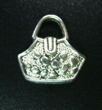 15pcs Tibetan Silver Cute Handbag Charms R546