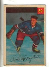 1954-55 Parkhurst Hockey Card #69 Bob Chrystal New York Rangers VG/EX.