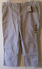 NWT Dockers D2 Mens Straight Fit Flat Front Casual Pants 38x30 Grey Stripe $58