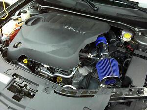 Blue For 2011-2014 Chrysler 200 3.6L V6 Air Intake Kit + Filter