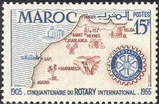Morocco 1955 Rotary 50th/People/Oil/Farming/Mining/Dam/Energy/Palms 1v (n35098)