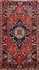 Semi-Antique Traditional Hand-knotted Area Rug Geometric Oriental RED Carpet 4x7