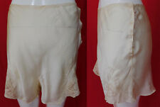 Vintage Mandel Brothers Caress White Silk Embroidered Lace Trim Tap Panties