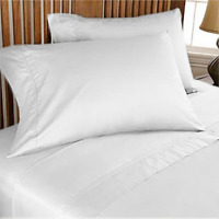 1000TC 100% EGYPTIAN COTTON ALL BEDDING ITEMS SELECT US SIZE COLOR WHITE SOLID