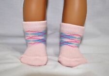 American Girl Doll Our Generation Journey Gotz 18 Doll Clothes Pink Pattern Sock