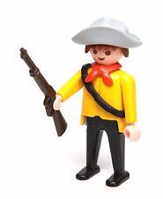Playmobil Figure Custom Western Cowboy Bandit Outlaw w/ Ammo Belt Rifle Hat 4431