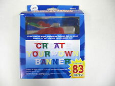 83 Piece Create Your Own Birthday Celebration Party Letter Banner Decoration