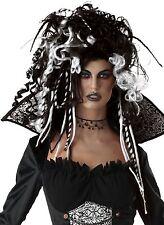 Nero Bianco LA SPOSA CADAVERE Curl Dreadlock Halloween Costume Parrucca Vestito