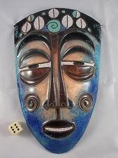 Große Emaille Wandmaske vintage sehr selten Emailkunst enamelled wall mask