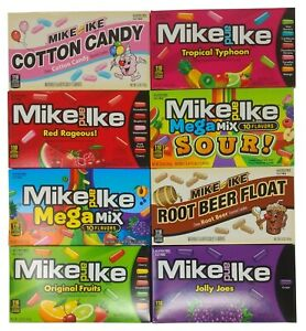 Mike and Ike American Candy Sweets Theatre Box 141g 5oz 8 Flavours USA Import