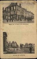 RETHEL Rue la Place vor/nach dem Krieg 1. Weltkrieg CPA World War Grande Guerre