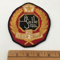 Vintage La Salle Steel Ironworker Patch - 25 Year Club - Made in USA Steelworker
