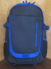 Staples BACKPACK Expandable School Book Bag Blue & Black Laptop Pocket Sleeve