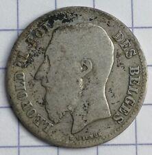BELGIQUE 50 centimes LEOPOLD II ARGENT 1899 FR Silver coin Wiener AG 2