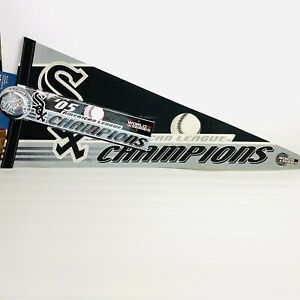 WinCraft Sports Fan Pack Chicago White Sox champions Pennant, sticker and button