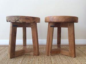 Set of 2 Pols Potten Wooden Stools