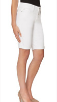 new NYDJ Not Your Daughter's Jeans TUMMY TUCK STRETCH WHITE SHORTS