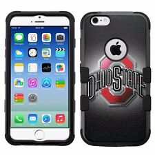 for Apple iPhone 6 6S Armor Impact Hybrid Cover Case Ohio State Buckeyes #B