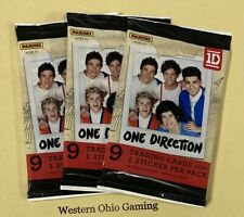 One Direction Trading Cards Packs x 3 NEW Stickers 1D Boy Hit Music Band