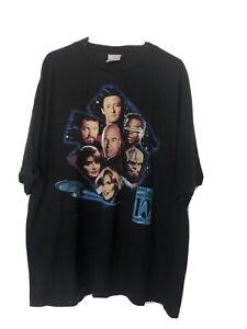 Vintage 90s Star Trek T Shirt TV Movie Promo XXL Spock Team Generation VTG Rare