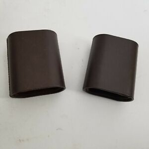 Vintage Backgammon Replacement Pair of Brown Dice Cups Shakers