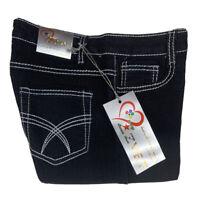 New Bermuda Jean Shorts Size 9/10 Inseam 13 Stretch Black #S6