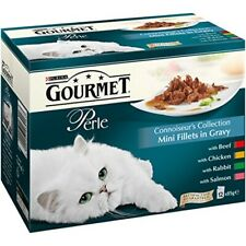 Gourmet Perle Adult Cat Mini Fillets In Gravy Connoisseurs Collection 12x85g