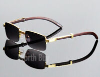 New Men Vintage Retro Designer Fashion Sunglasses Wood Gold Frame Old School 80s