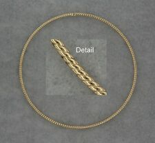 14k Yellow Gold Slipon Bangle 7.8 inches Hollow Thin Cable Rope. Wedding Gift