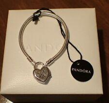 """Authentic Pandora Bracelet, Disney Parks Castle Locket,Heart Shaped  16cm=6.3"""""""