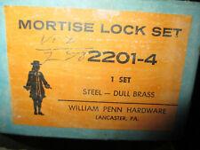 Nos Vintage William Penn Hardware Mortise Lock set