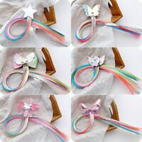 Girls Kids Glitter Hair Bows/Clips with Unicorn Wing Handmade Hairpins Usable