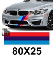 BANDE POUR BMW M3 MOTORSPORT RACING STRIPE AUTOCOLLANT STICKER BD530