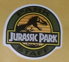 Jurassic Park Sticker 'Park Staff' | '90s Movie Memorabilia | Dinosaur Decal
