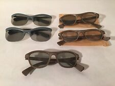 Lot Of 5 Vintage 1950s Polaroid 3-D Glasses Polarized Viewer Models 712 & 717