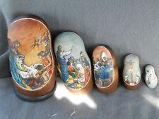 Vintage? Religious Nativity Scene Russian Nesting Dolls 5 Pc