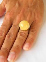 Wunderschöner Ring, balt.Bernstein, Amber, Milky Gelb Silber 925, NEU - UNIKAT