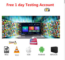 "1 Year subscription Ip-Tv M3""u , MAG ,Android , IOS ,Smarter pro, Fast delivery"