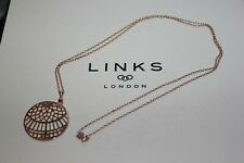 GENUINE LINKS OF LONDON 18KT ROSE GOLD TIMELESS LARGE ARCH PENDANT NECKLACE-80CM