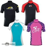 OSPREY KIDS SHORT SLEEVE RASH VEST - boys girls UV50+ beach surf kayak