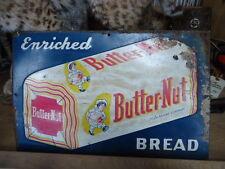 "VINTAGE BUTTERNUT BREAD TIN METAL SIGN TEXAS USA 17.5"" x 11.4"""