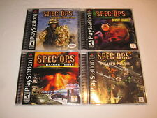 Lot of 4 Spec Ops Airborne Commando,Stealth Patrol,Ranger Elite,Covert PS1 Mint