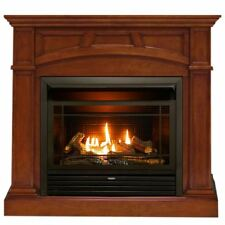 Duluth Forge Dual Fuel Ventless Gas Fireplace -26,000BTU, Heritage Cherry Finish