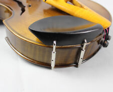 1pcs Ebony 4/4 Violin Chin rest + Silver Screw, violin parts accessories