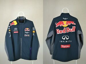 Mens Pepe Jeans Soft Shell Jacket Infinity Red Bull Racing Team SZ XXL XX-LargE