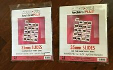 Clear-File Archival Plus 35mm Slide Sleeves 25-Pk Photo, stamp / Coin Collection