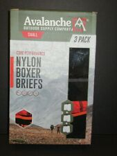 Avalanche Core Performance Mens Nylon Boxer Briefs Small 28 30 ~~3 Pairs~~
