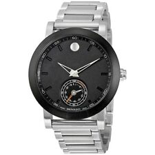 BRAND NEW MOVADO MUSEUM 0660001 BLACK DIAL MEN'S MOTION SILVER SMARTWATCH