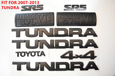 FOR 2007-2013 Toyota Tundra Matte Black Out Emblem Badges tailgate 9 Piece Kit
